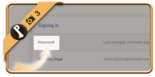 change gmail password 3