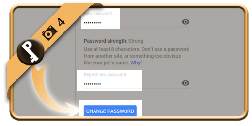 change gmail password 4