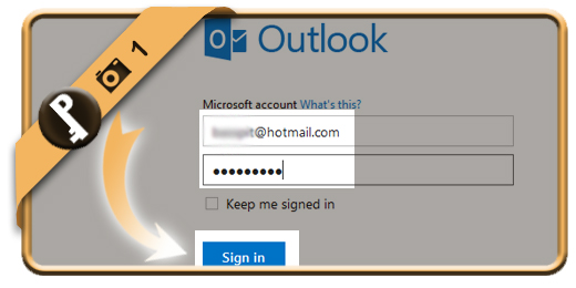 change hotmail password 1