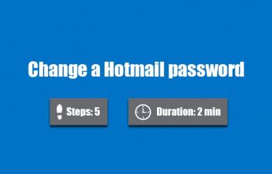 change hotmail password