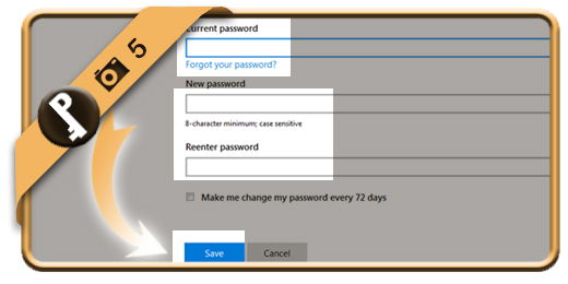 how to change a pass word outlook