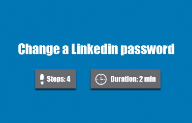 change linkedin password