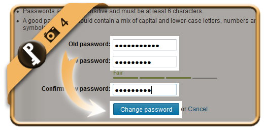 change linkedin password 4