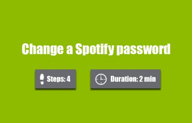 change spotify password
