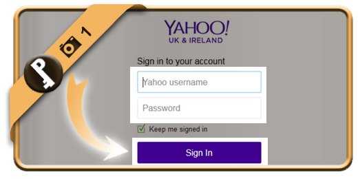 change yahoo password 1