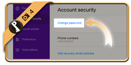 change yahoo password 4