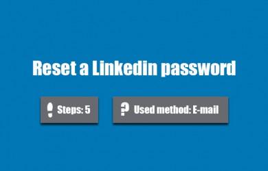 forgot linkedin password