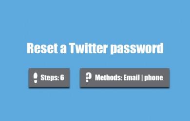 forgot twitter password