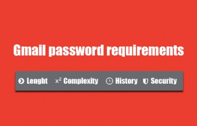 gmail password requirements
