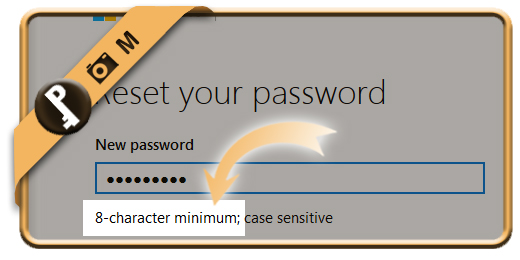 hotmail password minimum