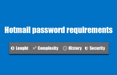 hotmail password requirements