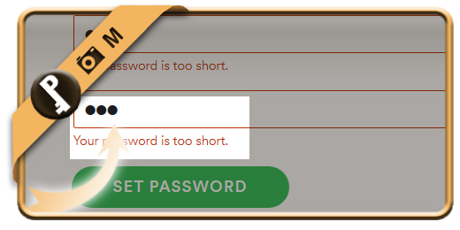 spotify password minimum