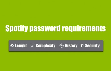 spotify password requirements