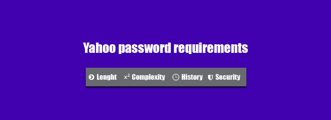 yahoo.com password requirements