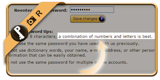 amazon password complexity