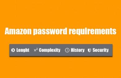 amazon password requirements