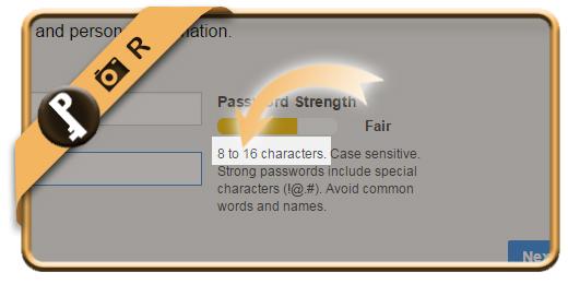 aol minimum password