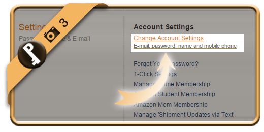change amazon password 3