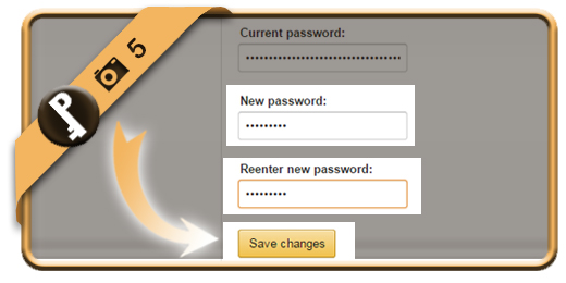 change amazon password 5