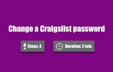 change craigslist password 0