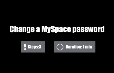 change myspace password 0