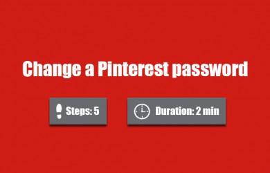 change pinterest password 0