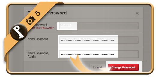change pinterest password 5