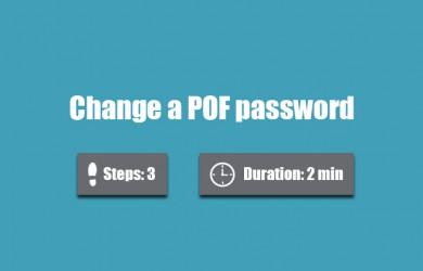 change pof password
