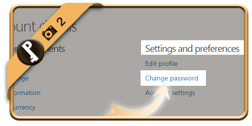 change skype password 2