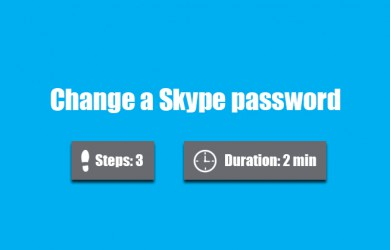 change skype password