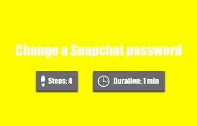 change snapchat password