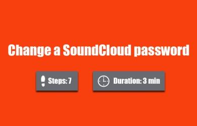 change soundcloud password 0
