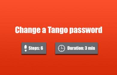 change tango password 0