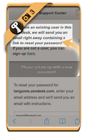 change tango password 3