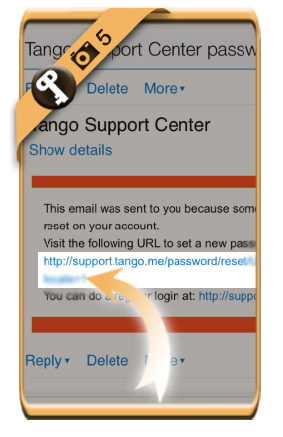 change tango password 5