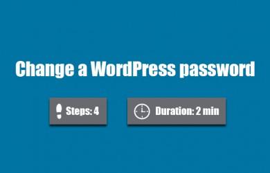 change wordpress password 0