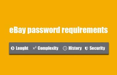 ebay password requirements