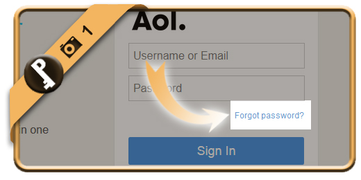forgot aol password 1