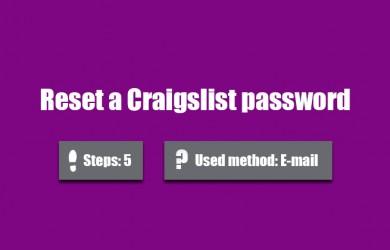 forgot craigslist password 0
