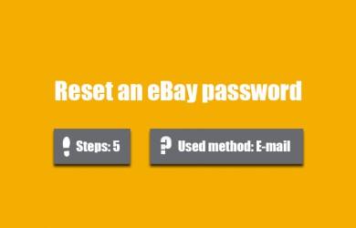 forgot ebay password