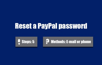 forgot paypal password