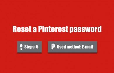 forgot pinterest password 0