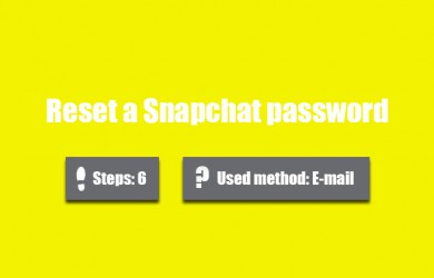 forgot snapchat password