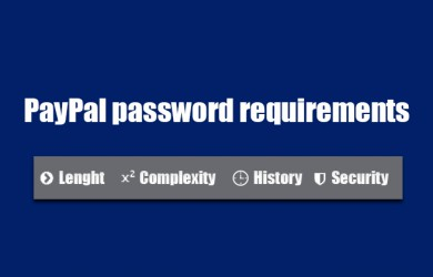 paypal password requirements