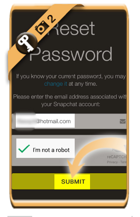 reset snapchat password 2