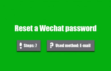 reset wechat password 0