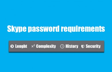 skype password requirements