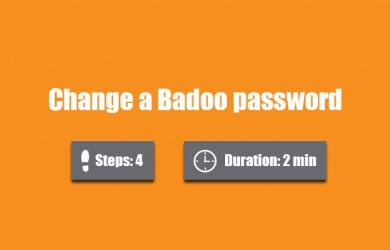 change badoo password 0