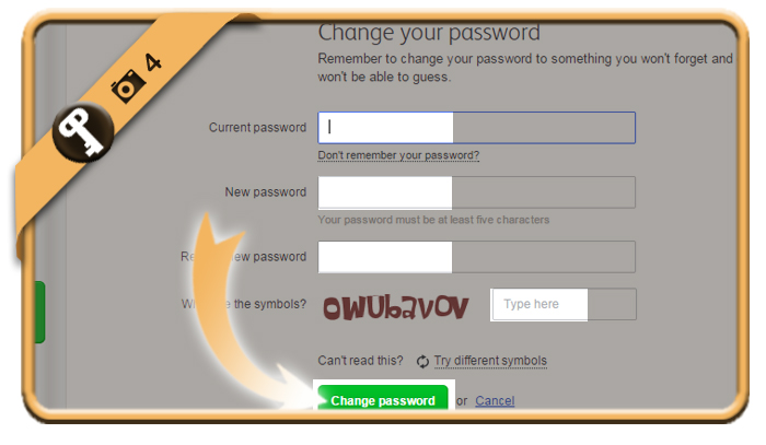 change badoo password 4