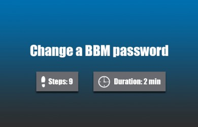 change bbm password 0